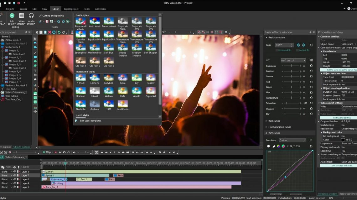 Software Pembuat Video Berita VSDC Video Editor