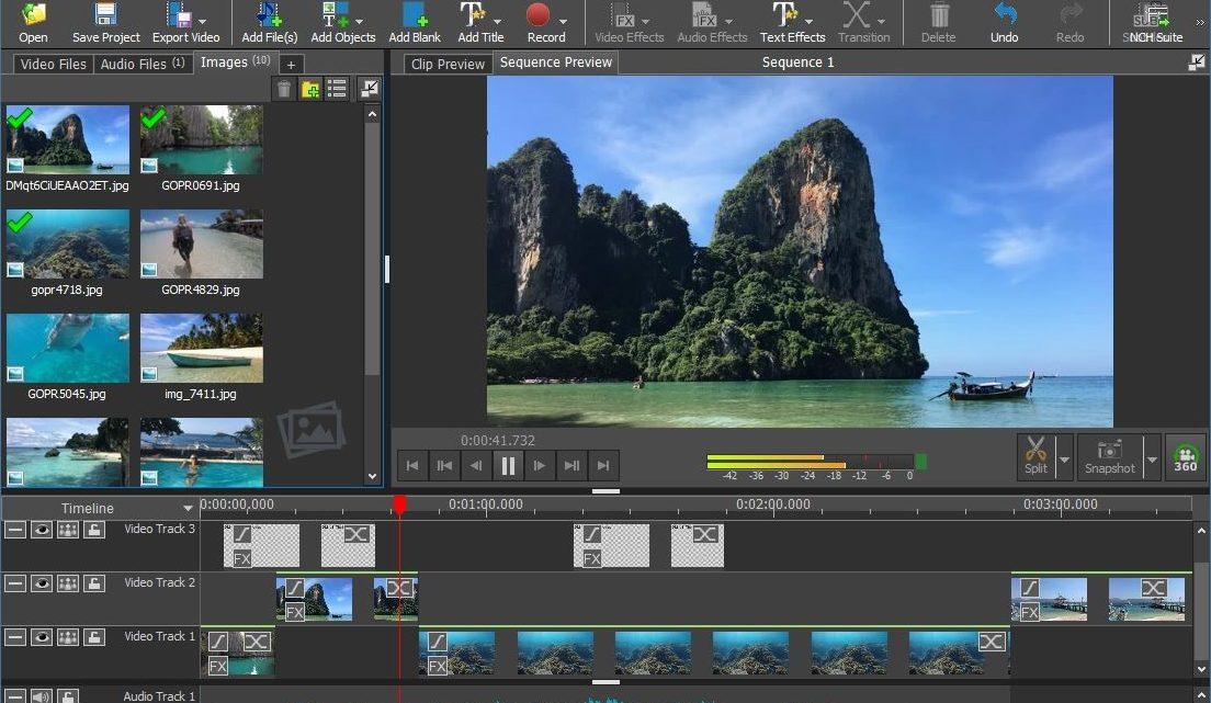 Software VideoaPad Untuk Editing Video di Windows