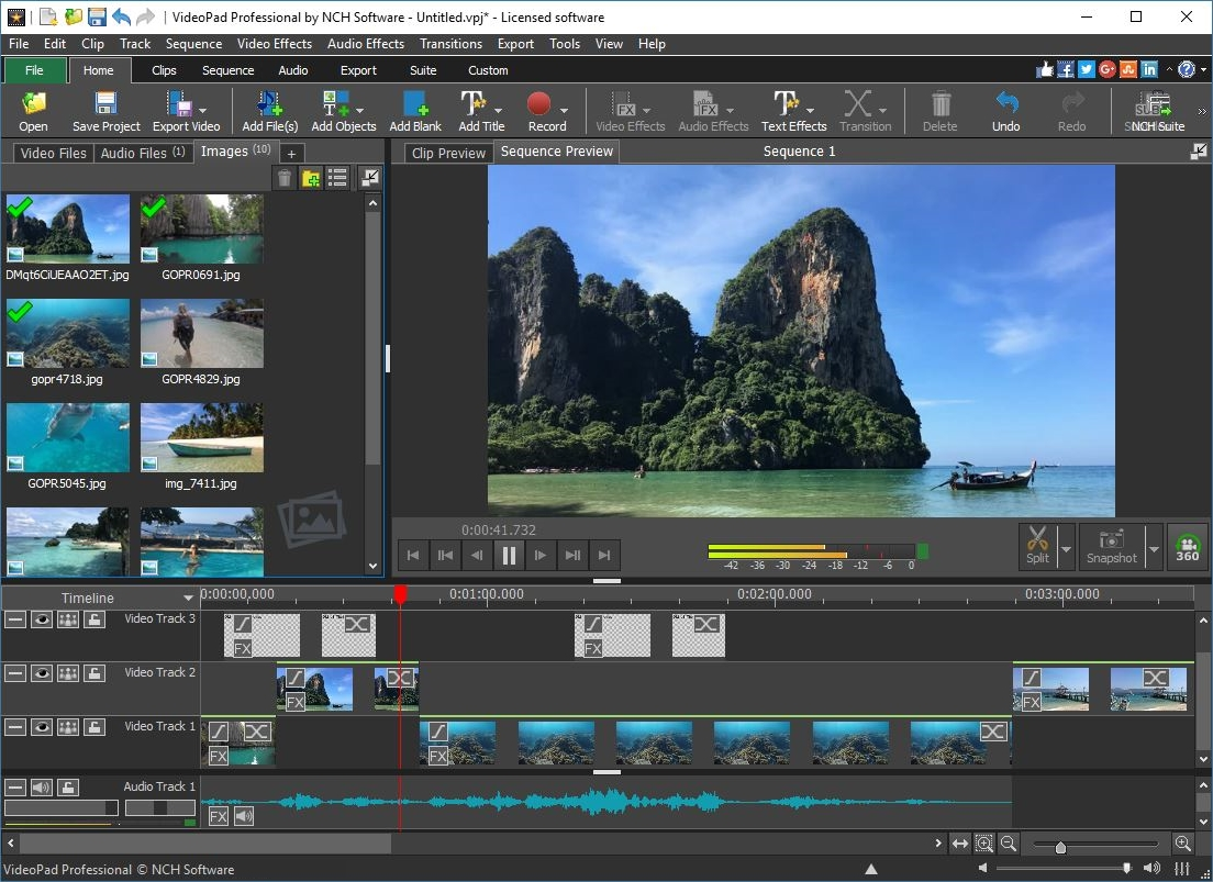 Software VideoaPad Untuk Editing Video di Windows
